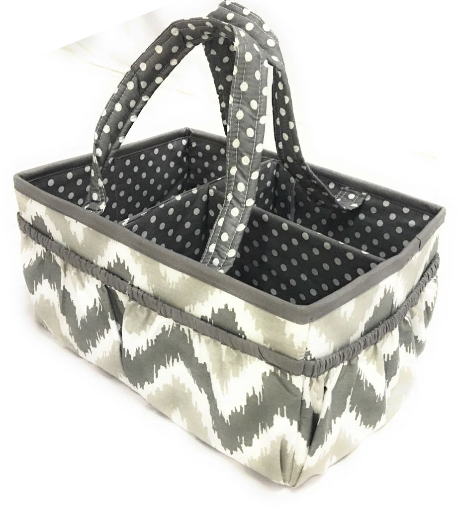 Bacati Mix and Our shop OFFers the best service Philadelphia Mall Match Nursery with Storage Caddy Fabric Handles