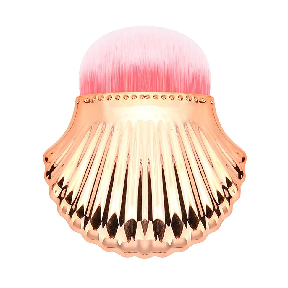 まっすぐにするショット持参シェル形状 化粧筆 YOKINO メイクブラシ ブラシ 可愛い 化粧ツール 人気 安い メイクブラシ 旅行と贈り物に最適 ゴールド