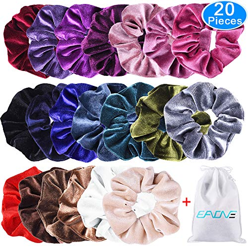 EAONE 20 Pack Velvet Hair Scrunchies...