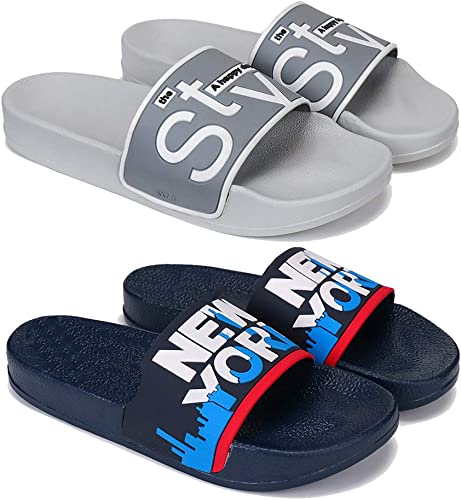New Stylish Fashion Latest Design Perfect Washable Flip Flop Slipper Slides for Daily Wear Walking Slipper for Men Pack of 2