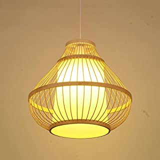 Sunny Lingt Ceiling Lighting Fixture Japanese Style Bamboo Rattan Lampshade Pendant Lights Hand-Woven Lantern E27 Restaurant Living Room Corridor Aisle Hanging Lamps