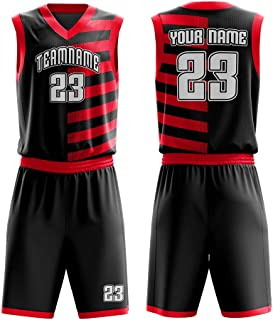 Custom Basketball Jerseys Set for Men Sportswear- Make Team Uniform Print Team Name,Number and Your Name.