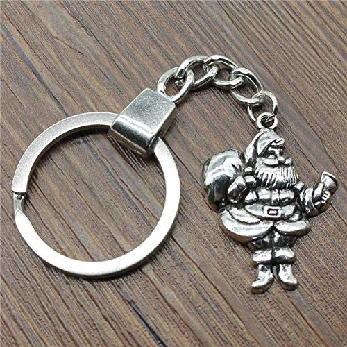 N/ A 32x25mm Weihnachtenmit Geschenk Schlüsselbund Antik Silber Mode handgemachte Schlüsselbund Party Geschenk SchmuckPing