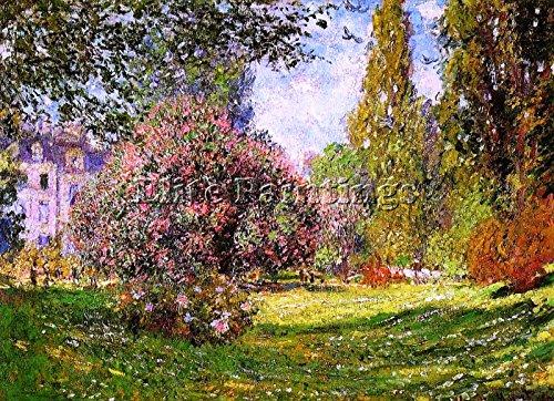 Elite-Paintings Claude Monet The PARC MONCEAU Paris 1 Artista Quadro Dipinto Olio su Tela Mano 60x90cm Alta qualita