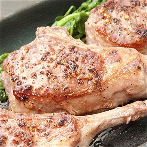 ラム肉 骨付きラム肉 ラムチョップ (18本入り/1200g/冷凍) 業務用 ラム 千歳ラム工房 肉の山本