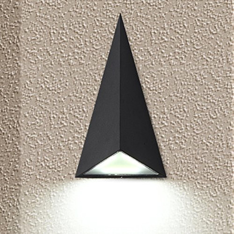 EOUBY LED Wasserdichtes Dreieck-Im Freienwand-Licht Wasserdicht, Schwarze Treppenhaus-Landhaus-Balkon-Hof-Licht-Wand-Hintergrund-Licht