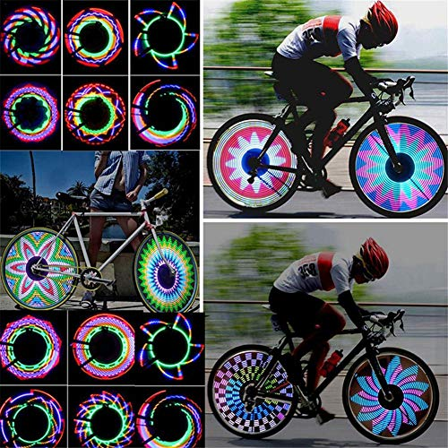 perfecti 2 Stück Fahrrad Speichenlicht 32 LED Wasserdicht Radnabenlicht Felgenbeleuchtung Für Nachtfahrten Auf MTB-Rädern