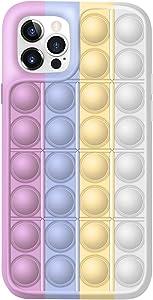 Fidget Toys Phone Case,Push Pop Bubble Protecive Case for iPhoneX,XS,XS Max,XR,11,11pro,12,12Pro,12Pro Max (F, iPhone 12/12Pro)