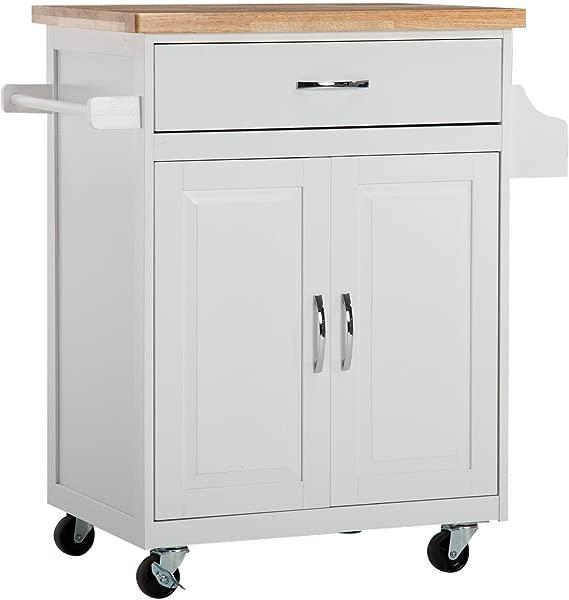 Allgraves 餐厅厨房岛屿手推车收纳柜餐具柜车轮上滚动手推车