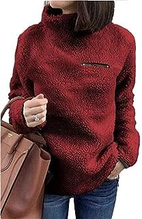 Sherpa Jacket Women Pullover Sweaters Fleece Sweatshirt Tunic Tops Blouses