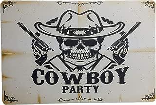 "AIQIBAO Metal Vintage Tin Sign Decor-Cowboy Party for Movie House Bar Pub Funny Retro Art Sign 12"" X 8"""