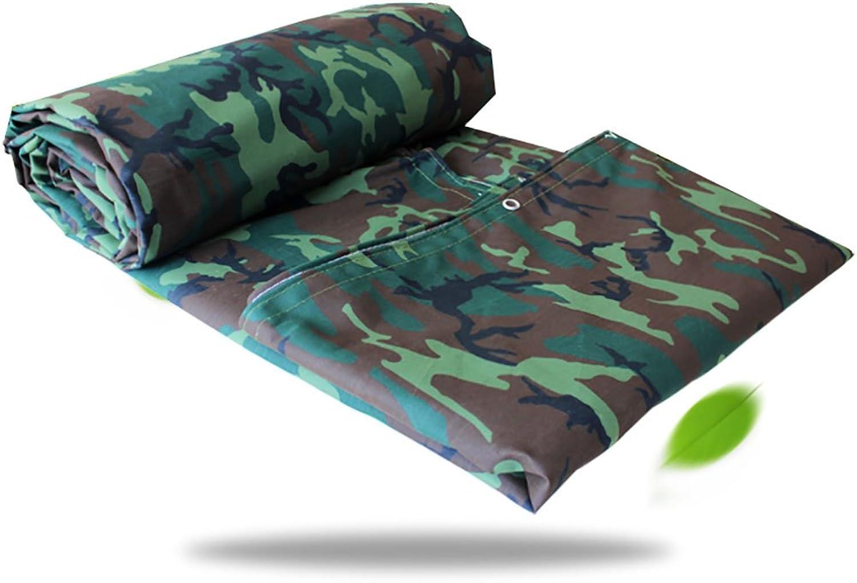 LQQGXL Camouflage Tarpaulin, Waterproof Poncho Camping mat Tent Cloth Outdoor Cargo Sunscreen Insulation wear Canvas Waterproof Tarpaulin