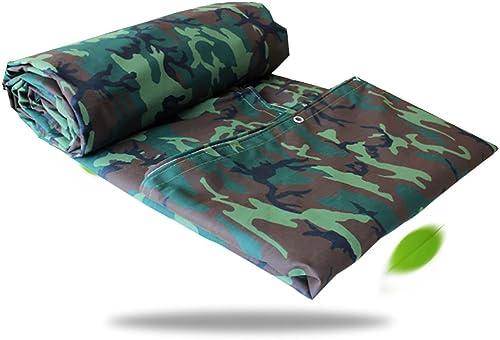 LPYMX Refuge de Camping Camouflage bache, imperméable à l'eau Poncho Camping Mat Tente Tissu extérieur Cargaison Prougeection Solaire d'isolation Porter Toile (Couleur   A, Taille   6  6m)