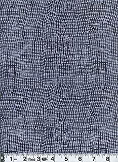 Abstract Screen Design: Indigo Blue Katagami Asian Japanese Fabric - by The 1/2 Yard