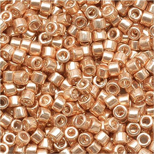 Miyuki DB-411 Delica Perles de rocaille galvanisées Doré 7,2 g 28,9 mm