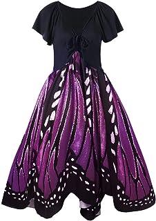 comprar comparacion COZOCO Vestido sin Mangas con Estampado de Mariposa sin Mangas con Estampado de Mariposa de Manga Corta de Playa de Bohemia