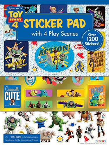 Disney Toy Story 4 Official Sticker Pad with Play Scenes