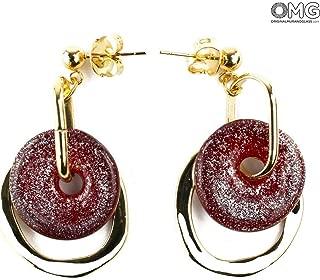 Scarlatto Earrings - Antica Murrina Collection - Original Murano Glass OMG