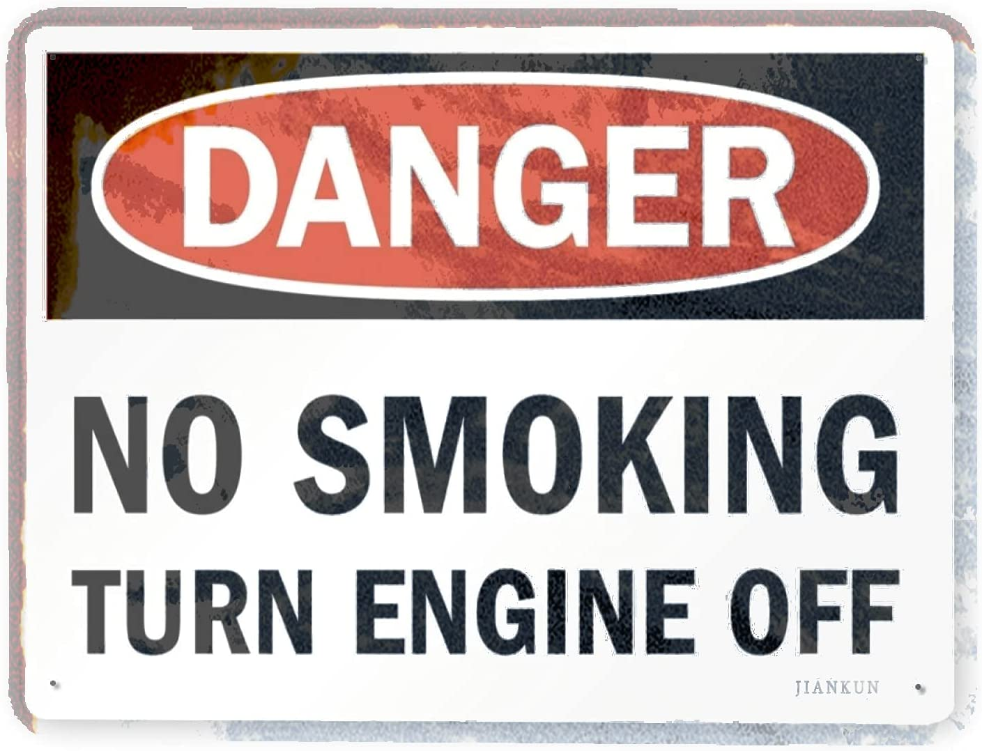 J.DXHYA Man Cave Lowest price challenge Decor 2 Pieces Sign Warning Same day shipping Danger Smok No