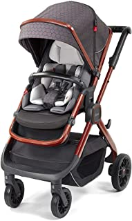 Diono Quantum2, 3-in-1 Luxury Multi-Mode Stroller, Charcoal Copper Hive (72303)