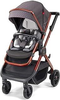 Diono Quantum2, 3-in-1 Luxury Multi-Mode Stroller, Charcoal Copper Hive