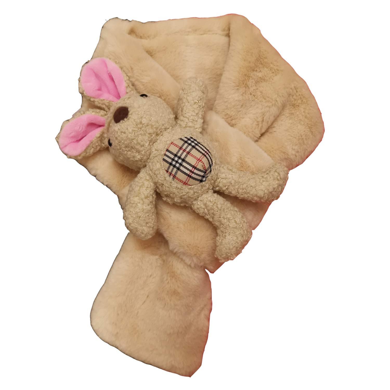 BEIGE Kids Girl Boy Cold Weather Winter Faux Fur Scarf Fluffy ...