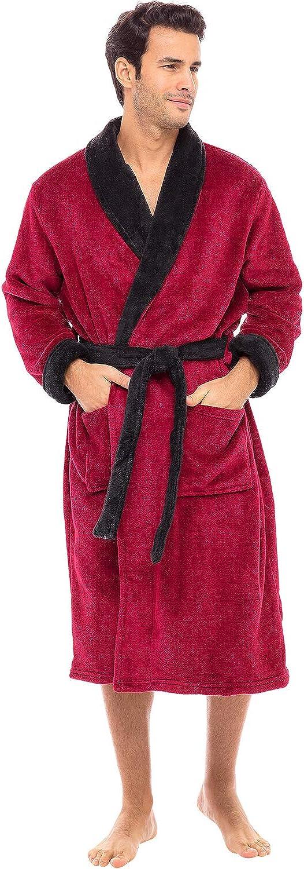 Dedication Alexander Del online shopping Rossa Men's Warm Fleece Bathrobe Plush Robe