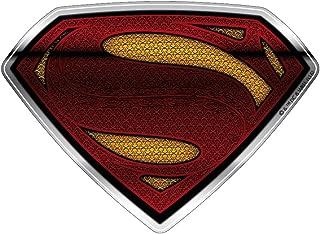 Fan Emblems Superman Logo Car Decal Domed/Multicolor/Chrome Finish, DC Comics Batman v Superman: Dawn of Justice BvS Automotive Emblem Sticker Applies Easily to Cars, Motorcycles, Laptops, Cellphones