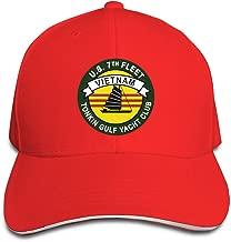 Tonkin Gulf Yacht Club US 7th Fleet Vietnam Baseball Caps Adjustable Sandwich Caps Jeans Caps Adjustable Denim Trucker Cap