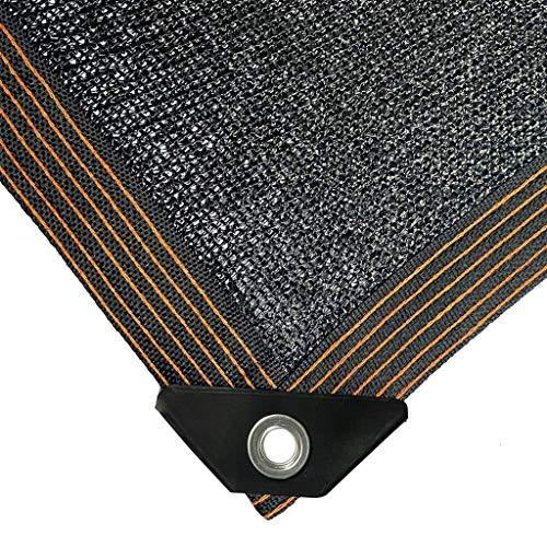 YTQ 95% de tarifa de sombreado bloqueador solar de tela para jardín, invernadero, balcón, aislamiento térmico, resistente a los rayos UV, color negro (tamaño: 2 m x 2 m)