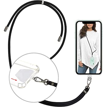 Nylon Cord Braid Cord for Cameraklace Black for Camera Phone iPod USB Mp3 Mp4 Key Ring Holder Mobile Phone Lanyard,Black