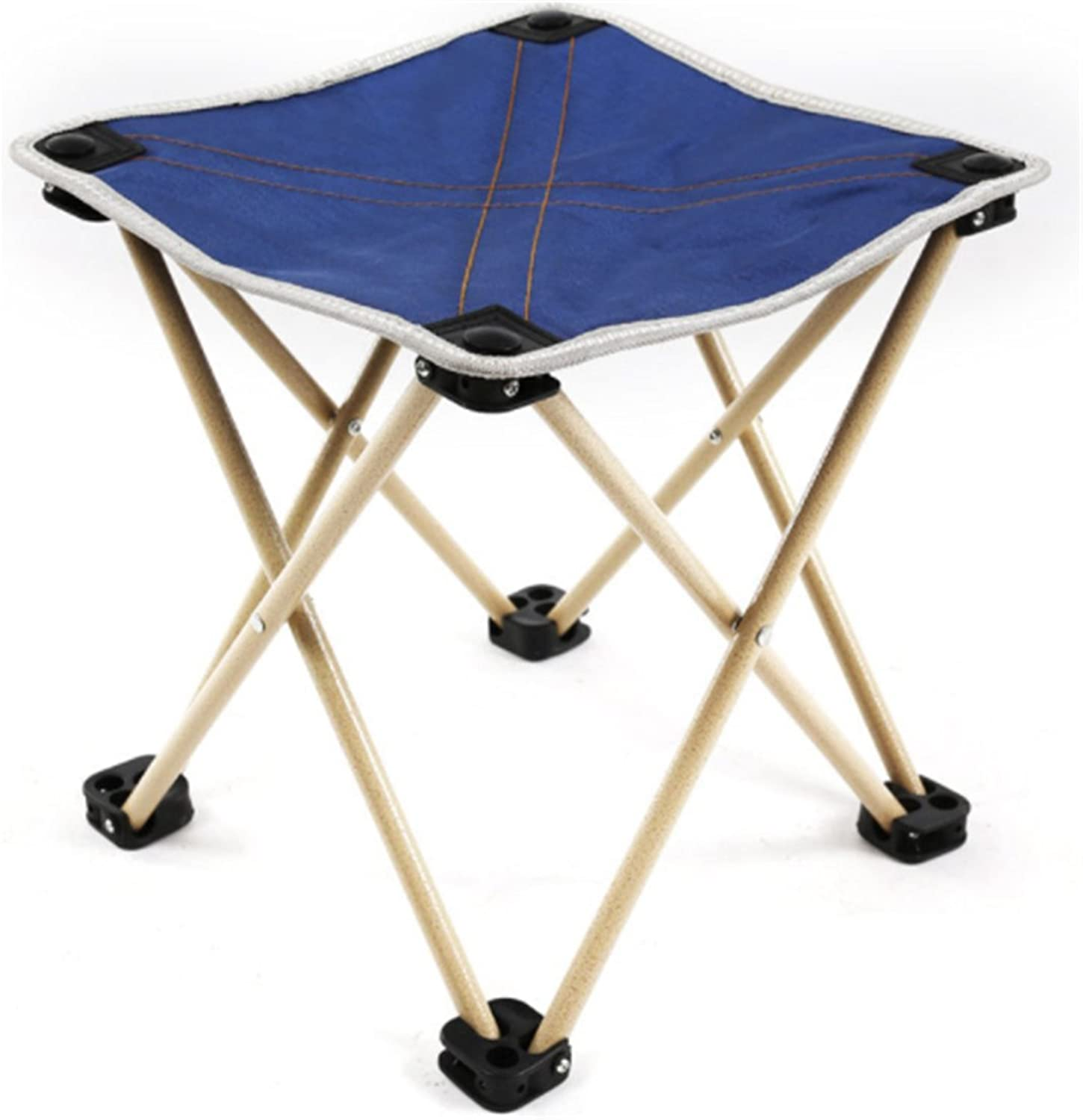 Folding Stool Ultralight Outdoor Fishing Travel Four Corners Mazar Space Chair Small Bench Folding Chair,4,L