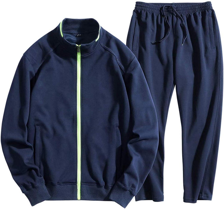 4e07940b95a0a1 A-LING Men's Essential Track Suit Running Jogging Sportwear Warm Sweat  Sweat Sweat Suit Big f24e46