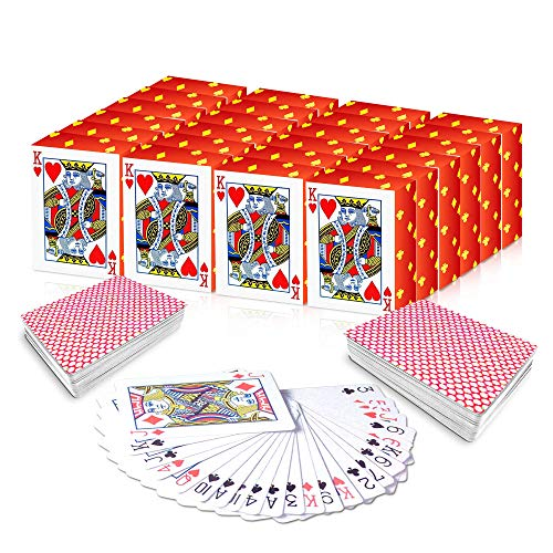 Gamie mini playing cards - pack of 20 decks - poker cards - miniature 1. 5 inch card set - small casino game cards for kids, and adults - great novelty gift, party favor for boys and girls