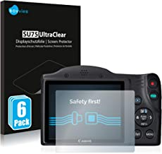 savvies Protector Pantalla Compatible con Canon PowerShot SX430 IS (6 Unidades) Pelicula Ultra Transparente
