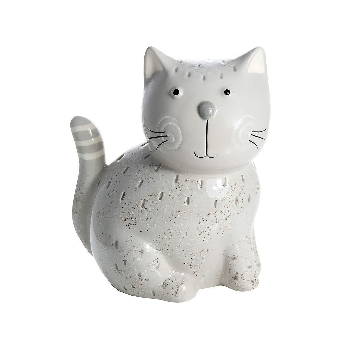 SPOTTED DOG GIFT COMPANY Adornos para Gato, Figura Decorativa Estatua de cerámica Color Gris Altura 16 cm, Amante de Gatos Regalo para para niña y niño, niños y Adultos: Amazon.es: Hogar
