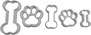 Paw Prints and Bones Cookie Cutters (5 Pack)