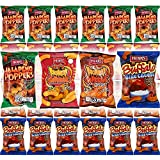 HERR'S Blue Cheese, Honey, Jalapeno Poppers, Hot 'N Honey Flavored Cheese Curls - Variety Pack, Gluten-Free, 1oz Bag (Pack of 24, Total of 24 Oz)
