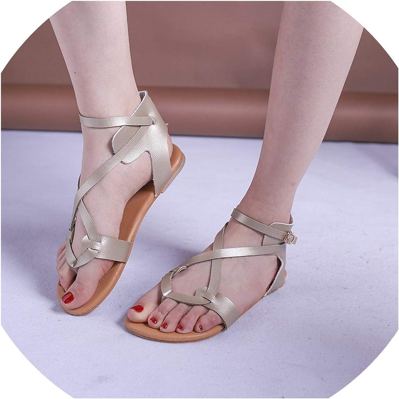 Houfeoans Women Sandals Sandwich Toe Fashion Daily Beach Solid Flats Outdoor Classic Fashion Buckle shoes