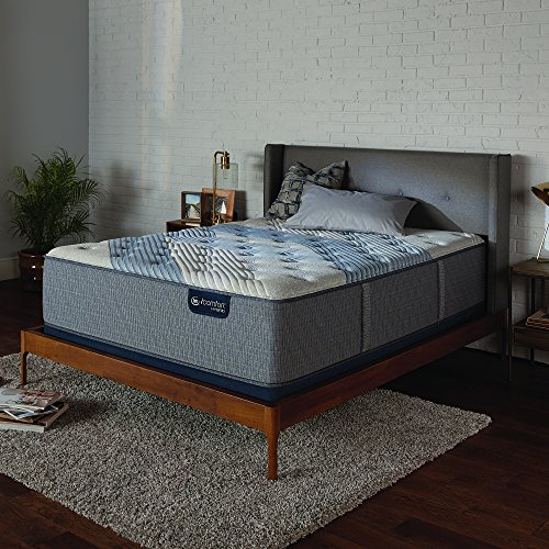 Serta Icomfort Icomfort Hybrid 14' Blue Fusion 1000 Luxury Firm Bed Mattress Conventional, King, Gray