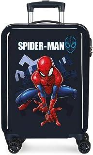 Marvel Spiderman Action Valise Trolley Cabine Bleu 37x55x20 cms Rigide ABS Serrure à combinaison 34L 2,6Kgs 4 roues double...