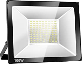 SOLLA 100W LED Flood Light, IP66 Waterproof, 8000lm, 550W Equivalent, Super Bright Outdoor Security Lights, 6000K Daylight White, Outdoor Floodlight for Garage, Garden, Lawn and Yard