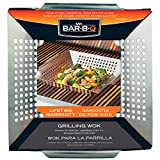 Mr. Bar-B-Q 06034Y Stainless Steel Vegetable Grill Basket   Perfect for Cooking Crispy Vegetables, Fish, and Meats on the Grill or BBQ   Built in Handles   Great for Cookouts and Camping