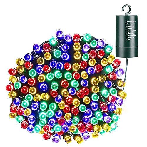 Qedertek Luces de Navidad Exterior, Guirnalda Luces 20M 200 LED, Cadena de...