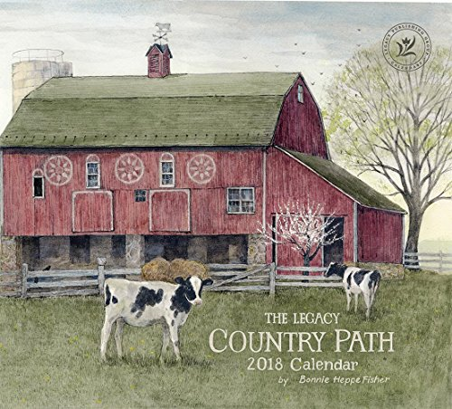 Legacy Publishing Group 2018 12-Month Wall Calendar, Country Path