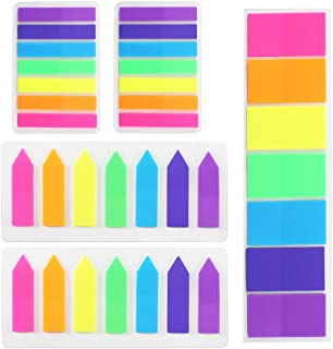 INNKER 700pcs Page Markers Colored Sticky Index Tabs Neon Note Tabs Fluorescent Sticky Note for Book Recipe Manual Highlight (5 Sets, 7 Colors)