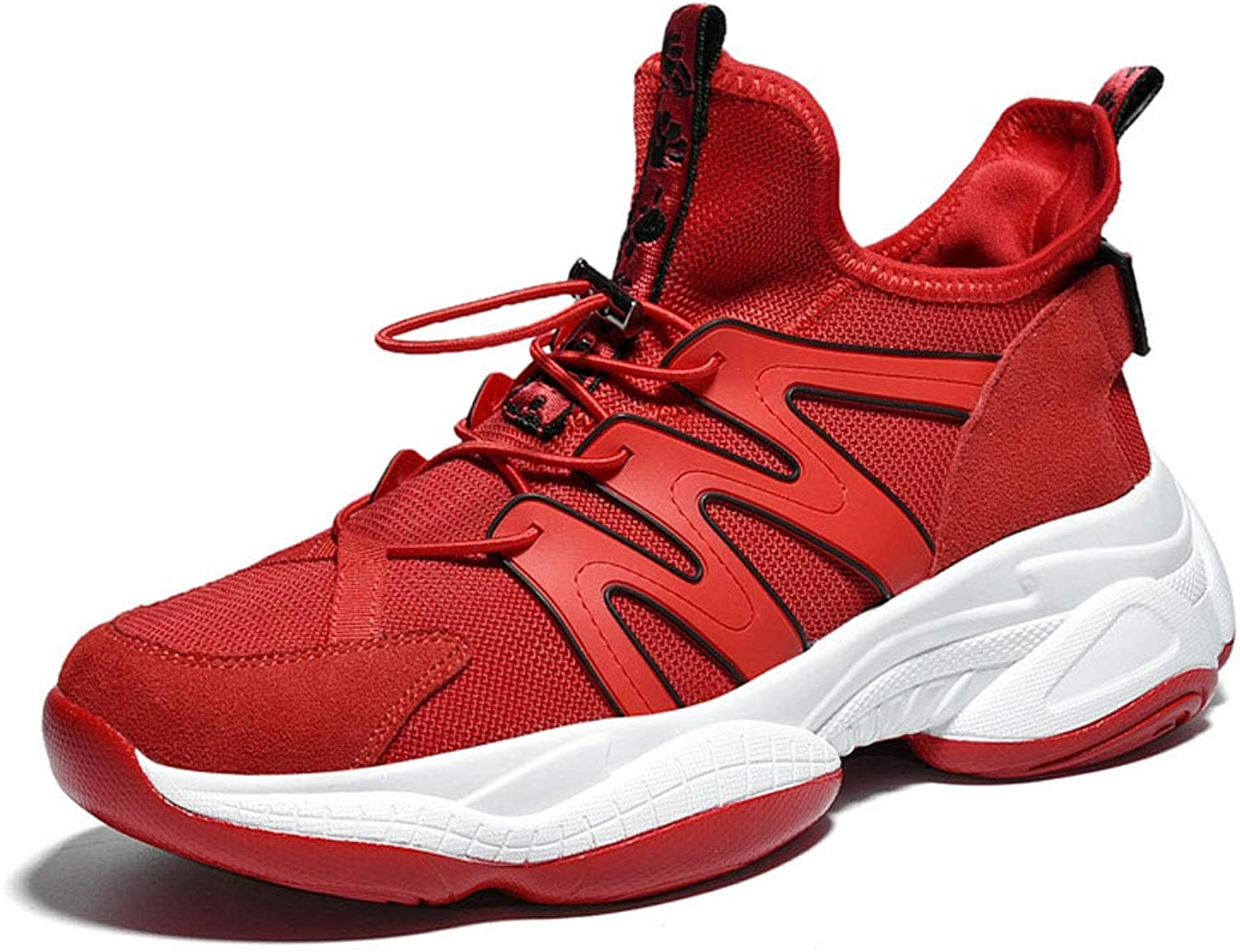 FFSH Sports shoes Wild Increase Casual Men's shoes-red-40