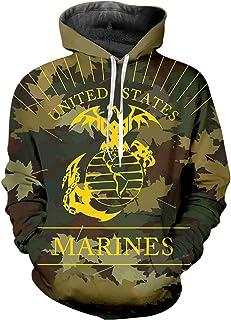 pinata Marine Corps USMC Pullover Hoodie Men 3D Cool Hooded Sweatshirt Casual Pockets