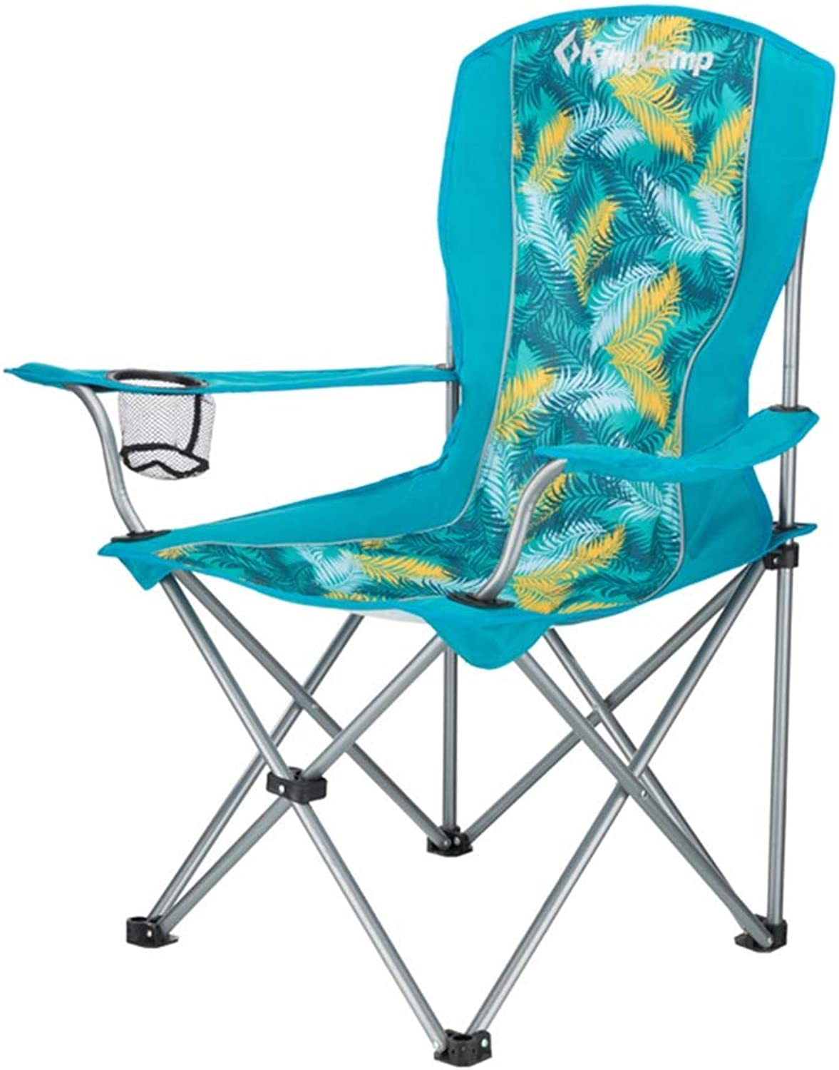 Lounge Chairs Folding Camping Chair Oxford Cloth Portable Folding Beach Fishing Barbecue Garden Sports Chair with Cup Holder, Bearing 120kg (Multicolor)