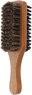 Perfeclan Beard Brush for Men - Natural Bristle on Both Sides - Wood Handle - B